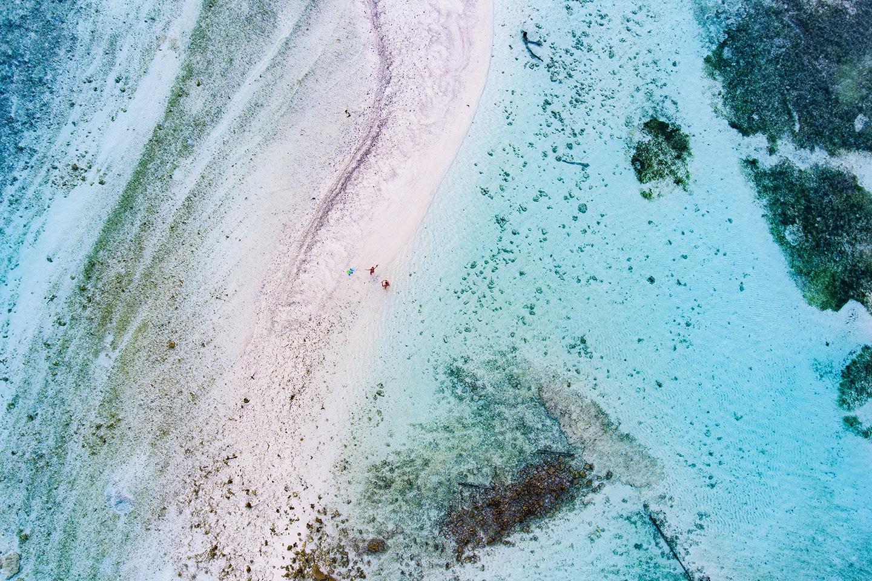 Maafushi island aerial photo
