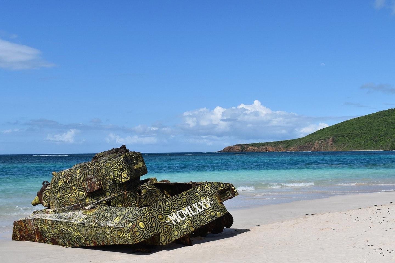 Army tank - Flamenco beach - Culebra