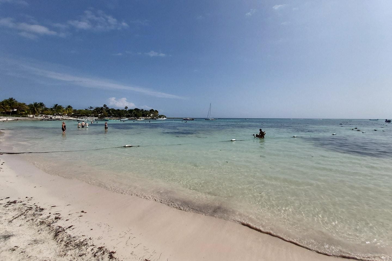 people at akumal beach Mexico