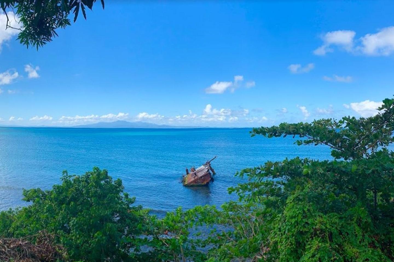 Seaglass beach wreck - Vieques