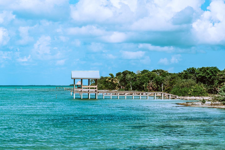 Calm waters at secret bay Belize