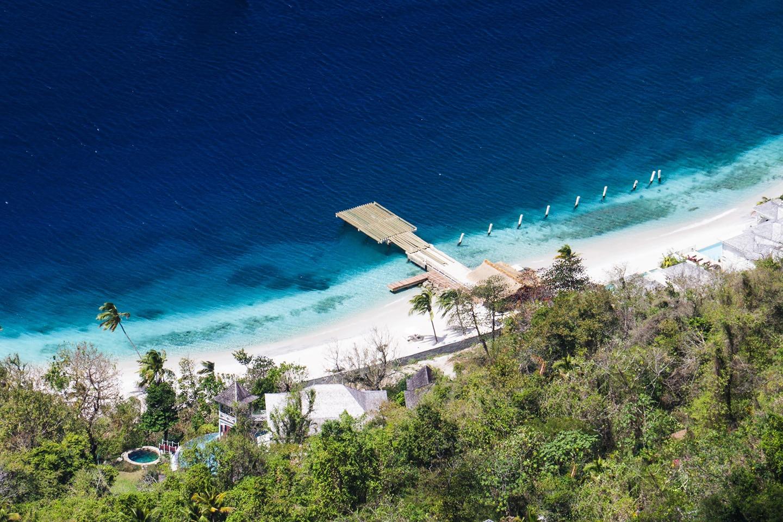 Sandy beach in St Lucia