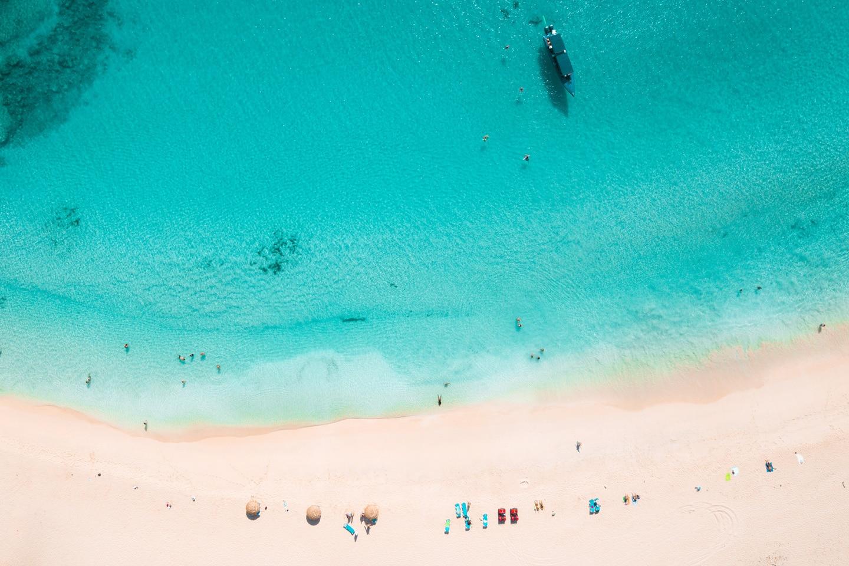 St Martin sandy beach