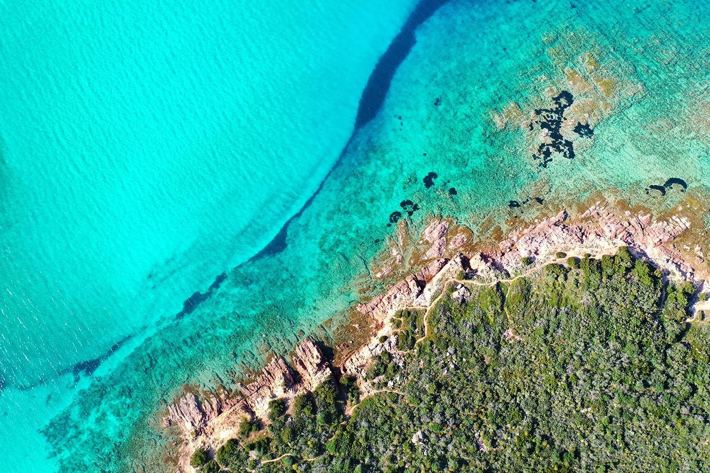 The clear waters of Spiaggia di Porto San-Paolo