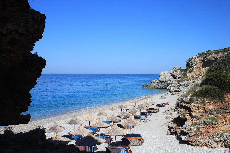 Dhermi beach rocks - Albania