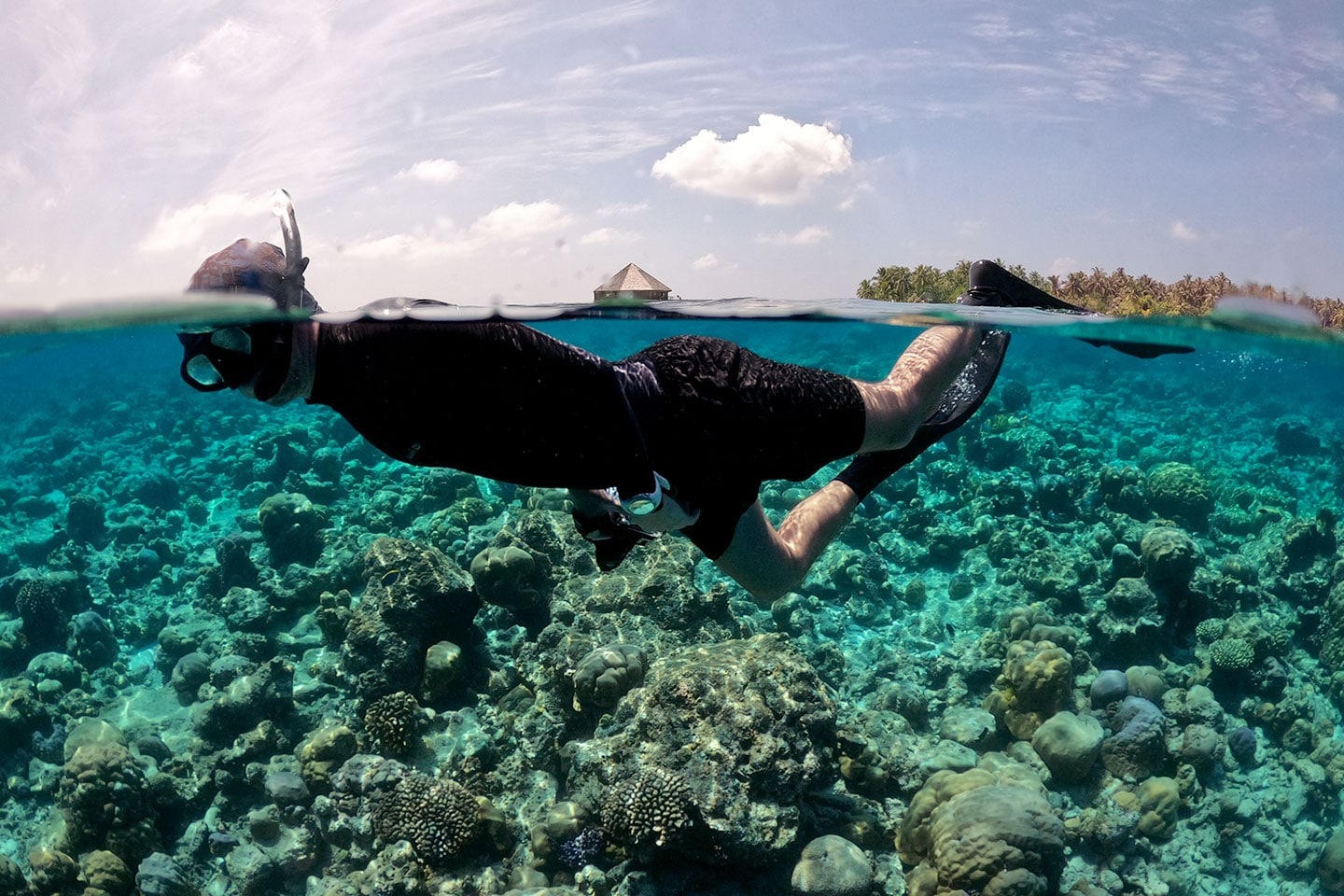 Snorkeling with watch
