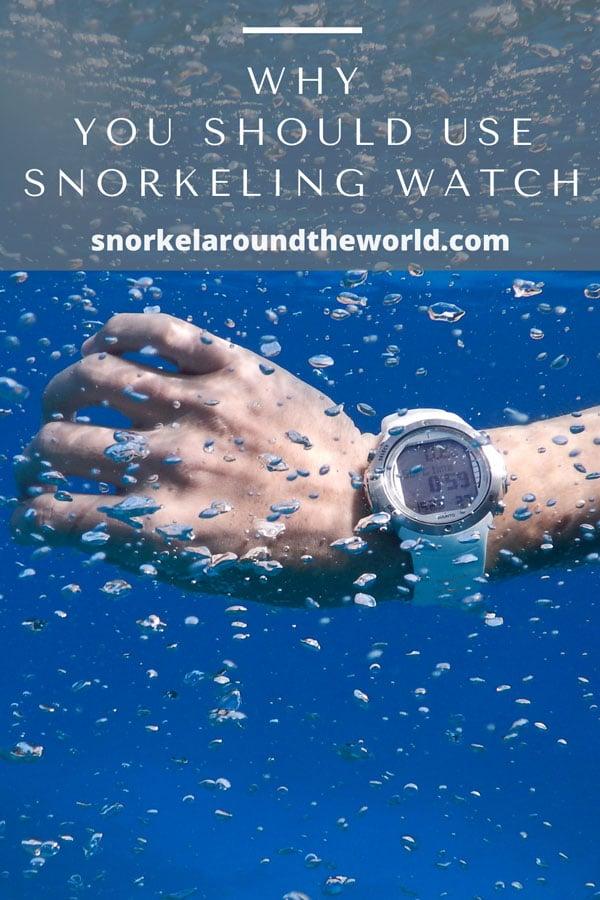 Waterproof watch for snorkeling