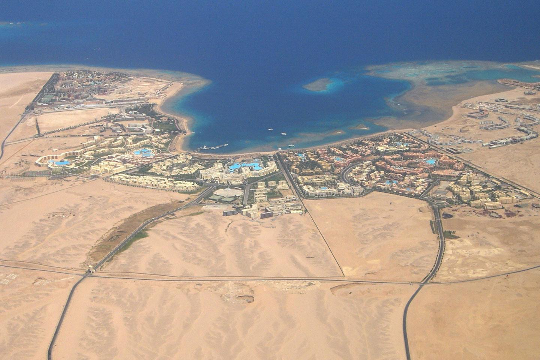 Hurghada airplane view