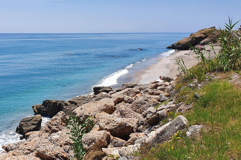 Rocky beach in Nerja