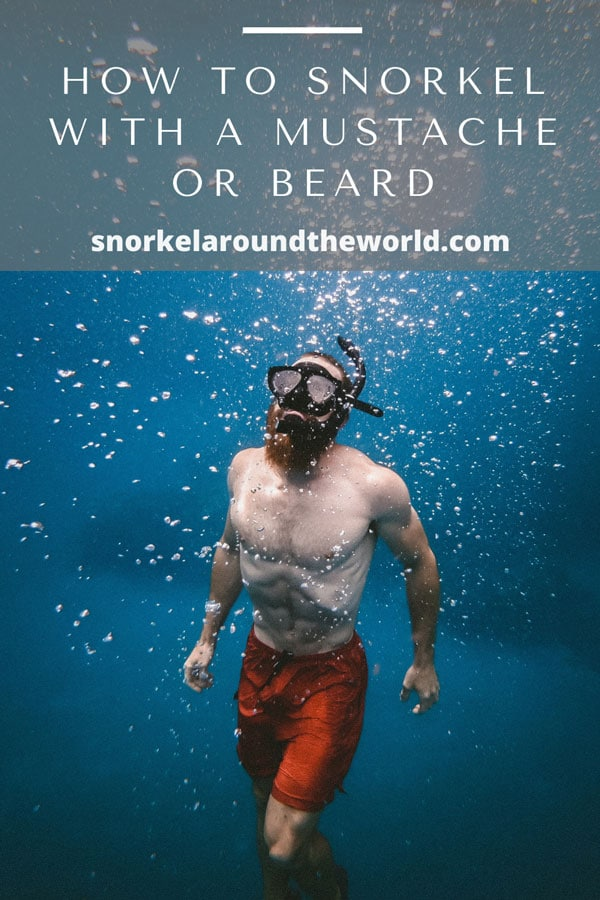 How to snorkel with a beard or mustache pin