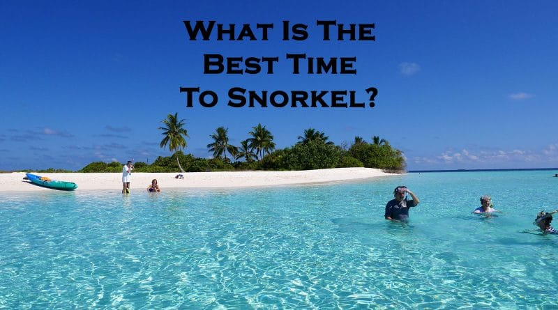People are getting ready for snorkeling - Best time to snorkel
