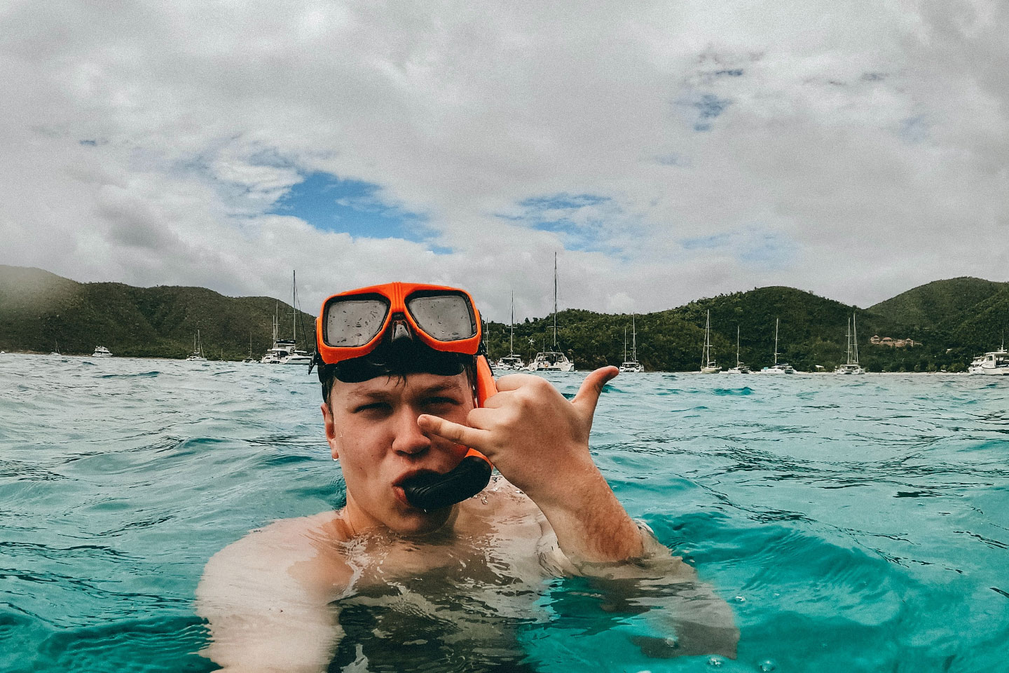 Snorkeling when its cloudy